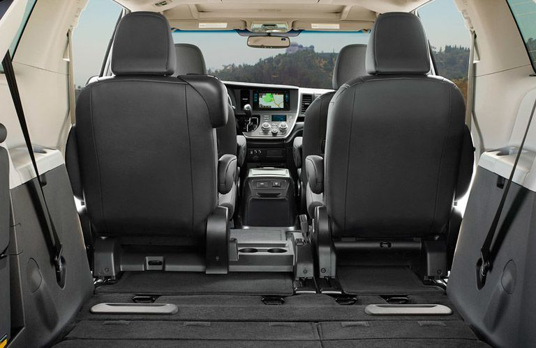 View of seats in the 2016 Toyota Sienna