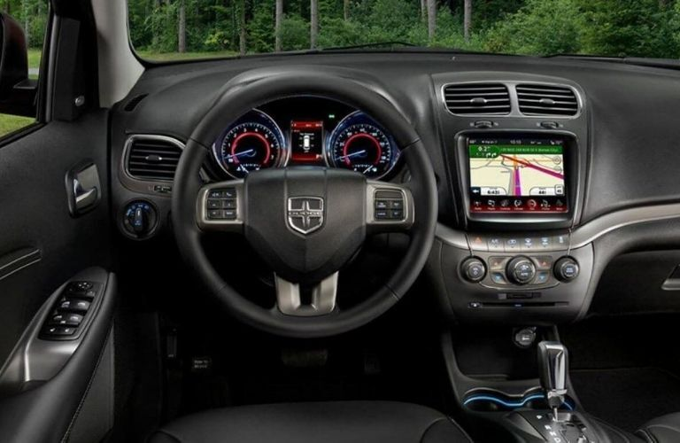2020 Dodge Journey interior dash and wheel