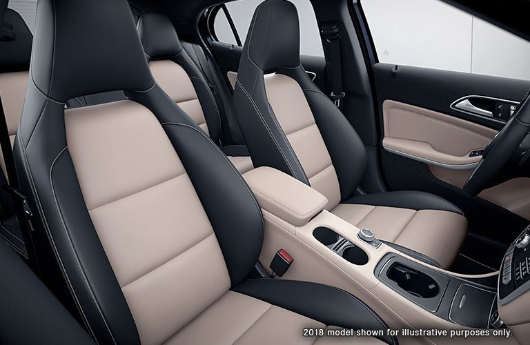 Front seats of the 2019 Mercedes-Benz GLA