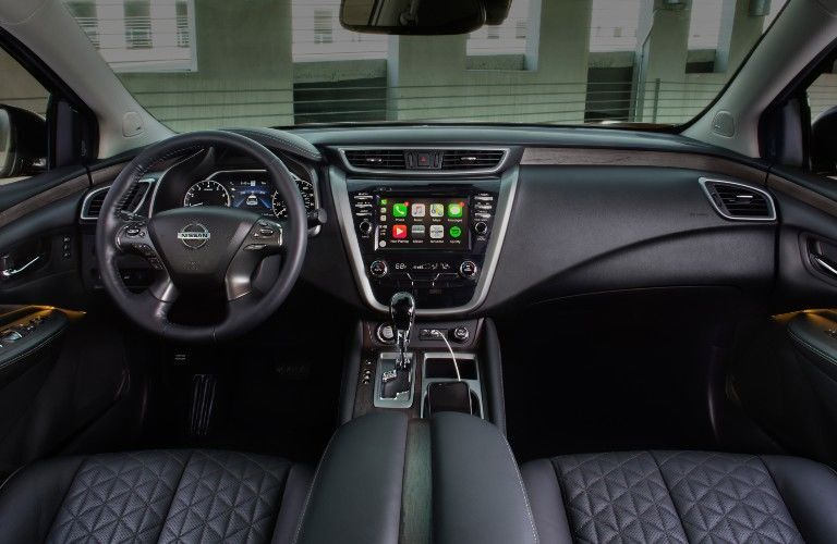 Steering wheel and touchscreen available on the 2021 Nissan Murano