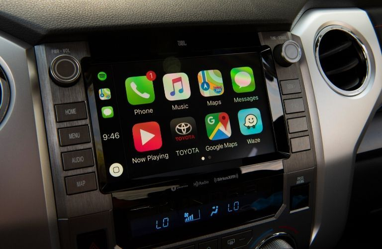 Apple CarPlay on 2020 Toyota Tundra