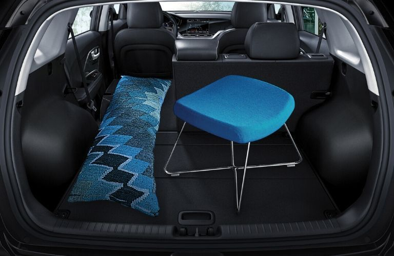 Interior view of the rear cargo area inside a 2020 Kia Niro