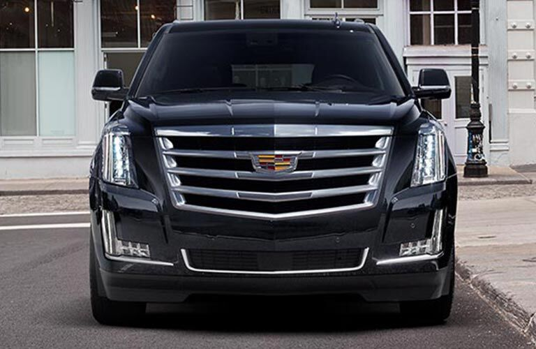 Front view of black 2018 Cadillac Escalade