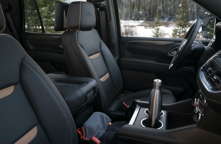 Front seats of the 2021 GMC Yukon AT4 Trim level