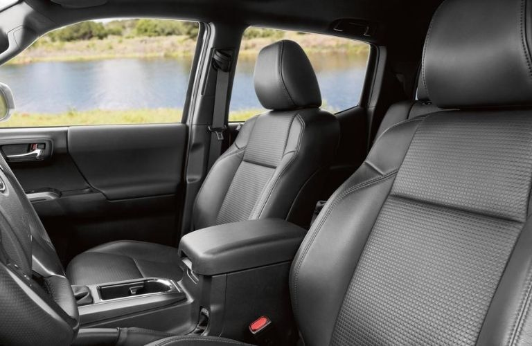 2020 Toyota Tacoma side view of seats