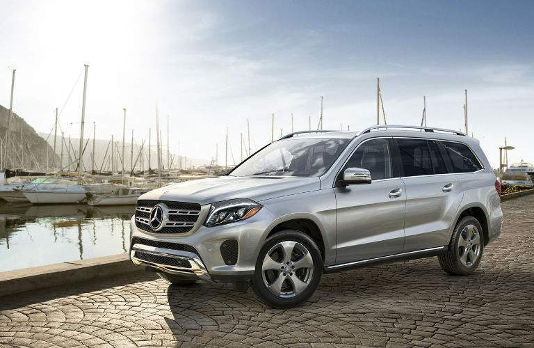 2018 Mercedes-Benz GLS parked at a marina