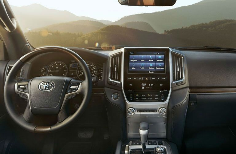2020 Toyota Land Cruiser Front Interior and Infotainment System