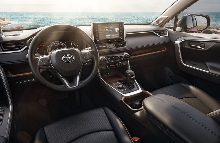 Interior front dash of the 2020 Toyota RAV4