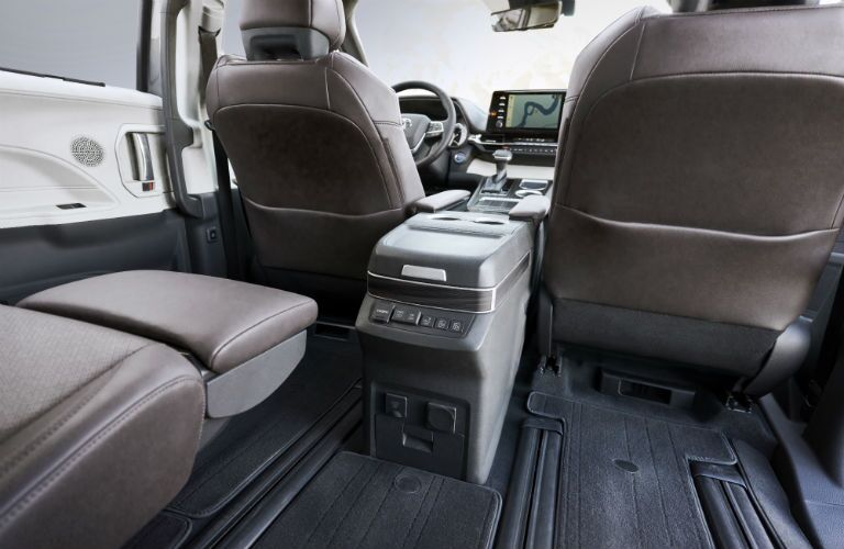 Another interior photo of available features in the 2021 Toyota Sienna.