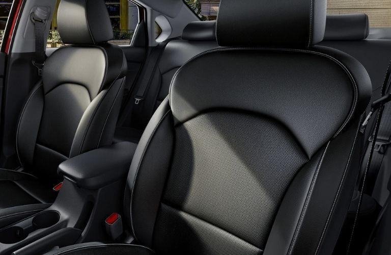 Interior view of the seating available inside a 2021 Kia Forte