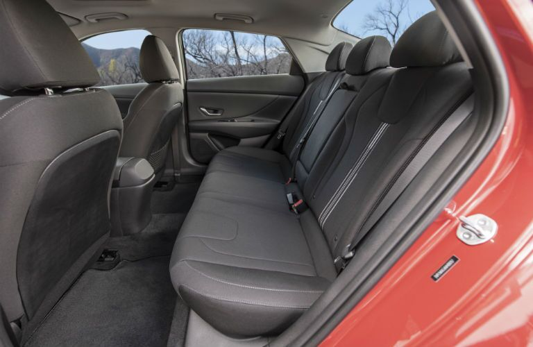 A photo of the backseats in the 2021 Hyundai Elantra.
