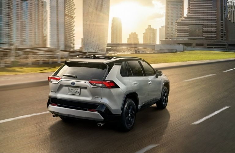 rear view of the 2021 Toyota RAV4