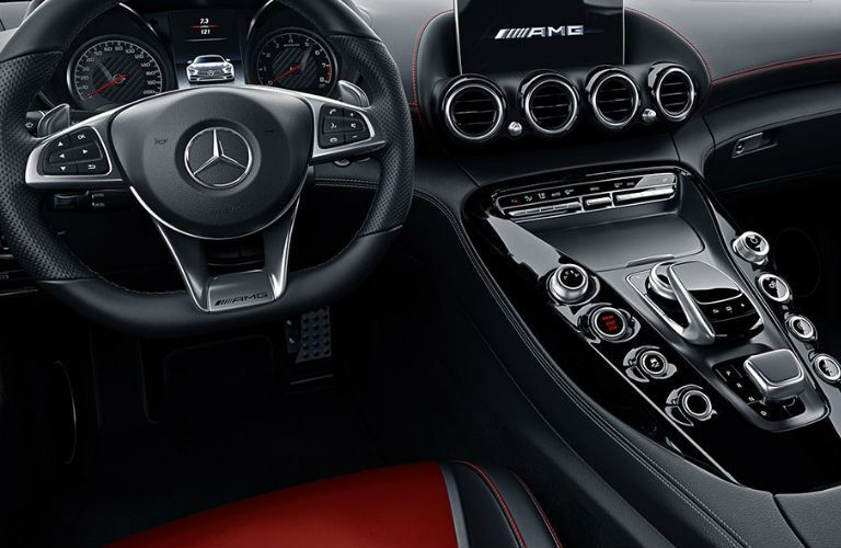 2018 Mercedes-AMG GT S Coupe steering wheel and center console