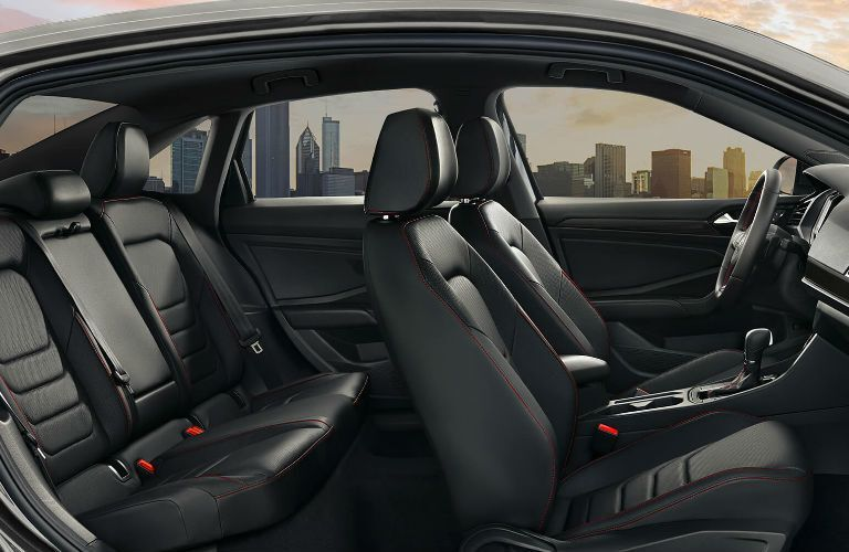 side view of black seating inside 2019 Volkswagen Jetta