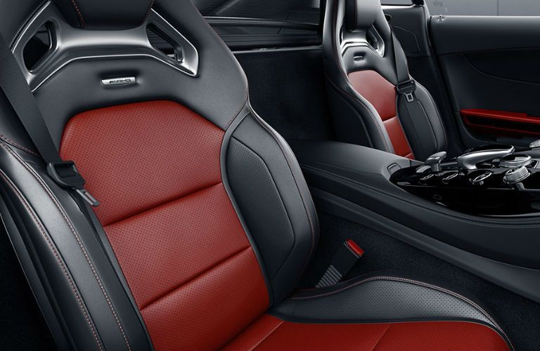 2018 Mercedes-AMG GT S Coupe red and black leather seats