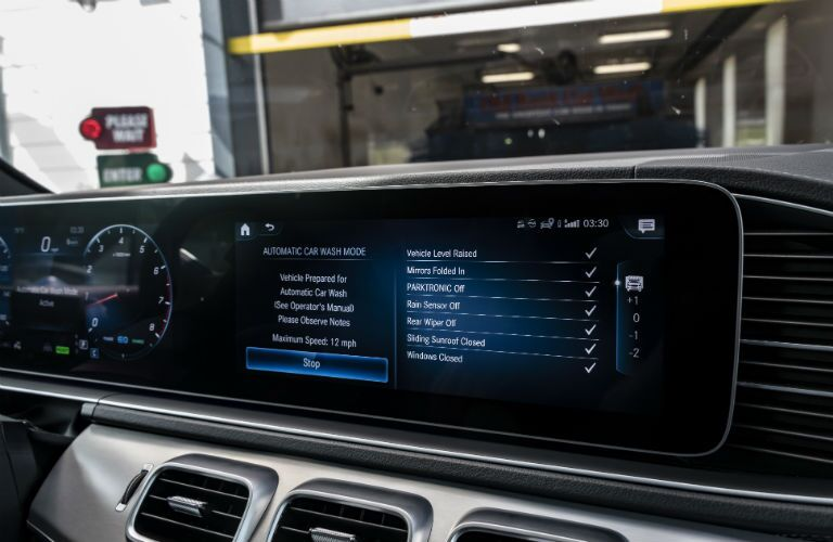 carwash mode and dual displays in 2020 mercedes-benz gls