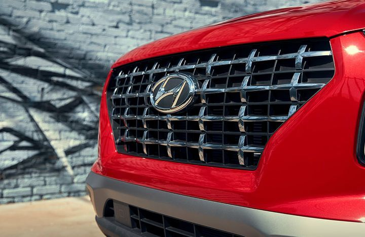 2020 Hyundai Venue exterior close up of front grille