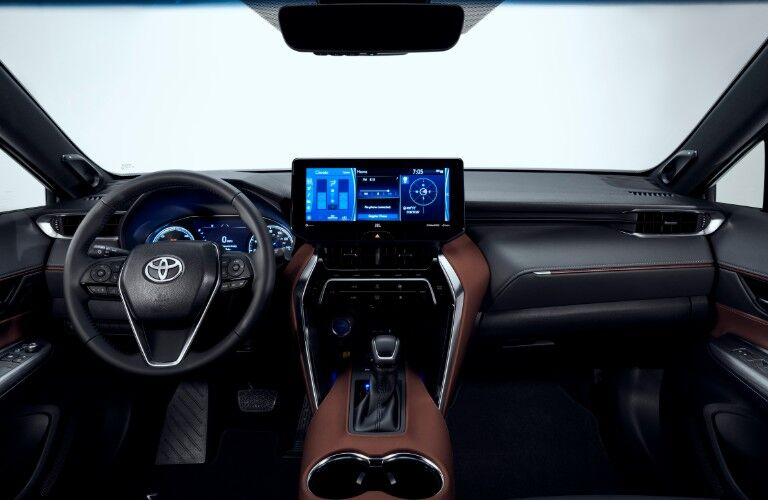 Interior front dash of 2021 Toyota Venza