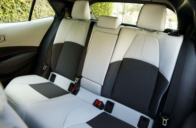 A photo of the rear seats in the 2021 Toyota Corolla Hatchback.