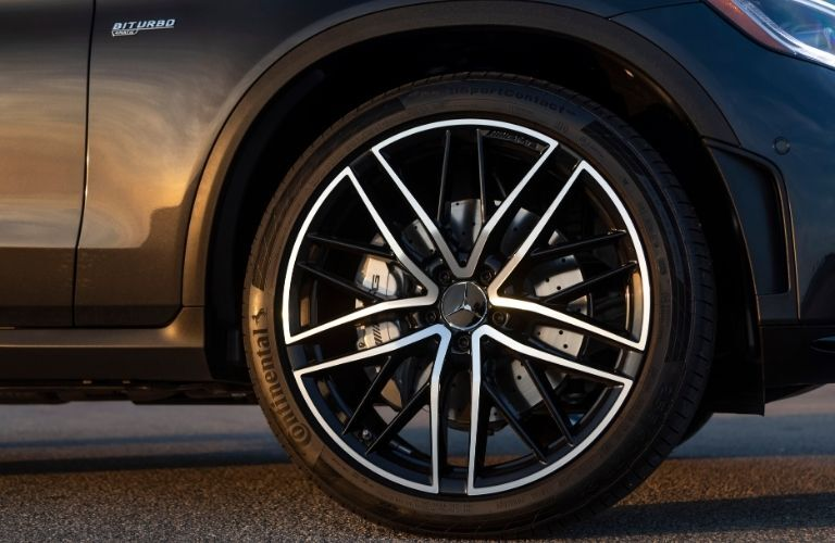 2021 MB GLC exterior close up of tire