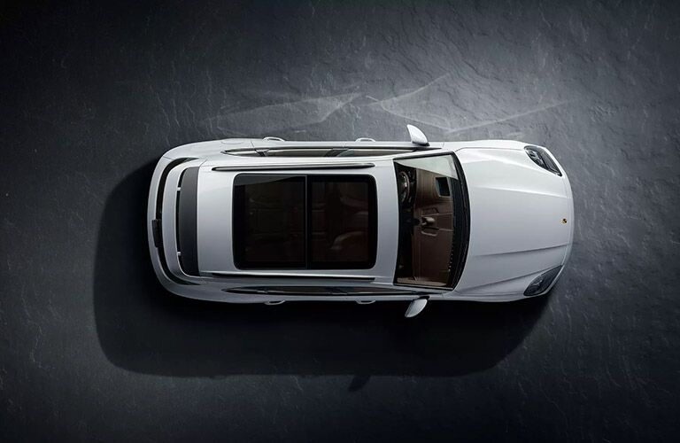 top view of the 2020 Porsche Cayenne