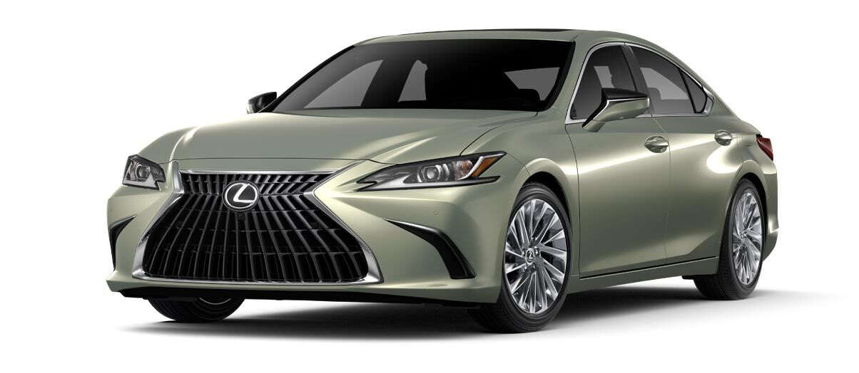 Exterior of the Lexus ES 250 Ultra Luxury AWD shown in Sunlit Green.