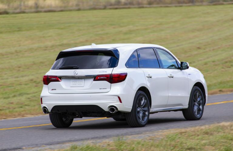 A left rear quarter photo of the 2020 Acura MDX.