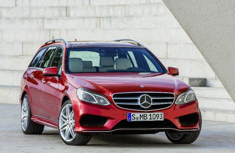 2018 Mercedes-Benz E-Class Wagon red front view