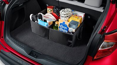 cargo space in red 2020 Toyota C-HR