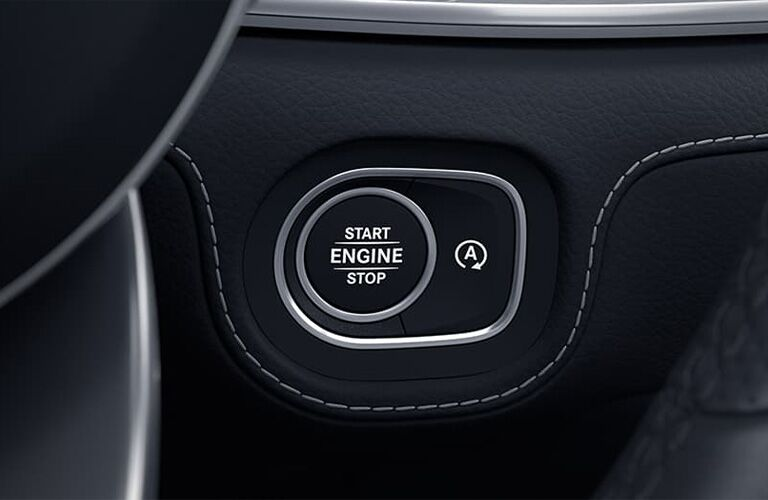 2021 MB GLE Coupe interior close up of push button start