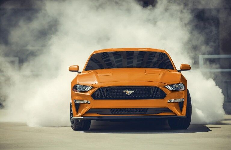 front view of the Ford Mustang
