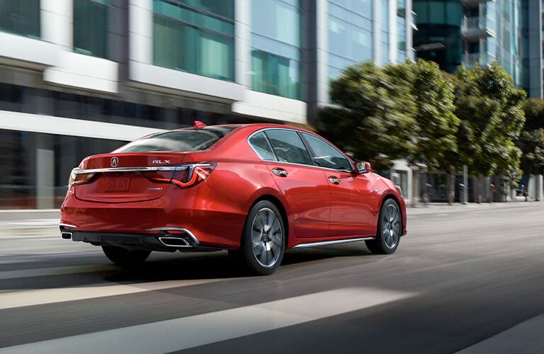 2020 Acura RLX rear in red