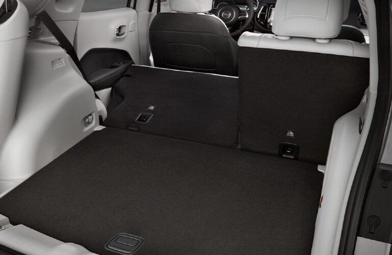 Cargo area of the 2021 Jeep Compass