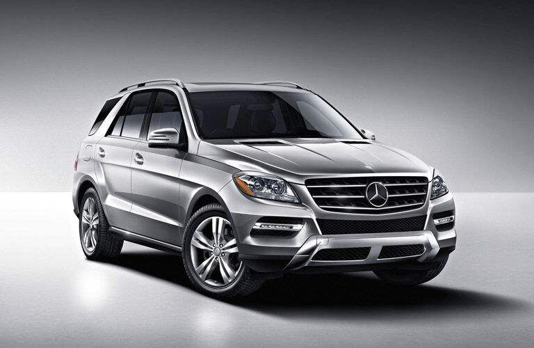 use Mercedes-Benz M-Class in silver on display