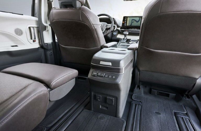 second row view in the 2021 Toyota Sienna