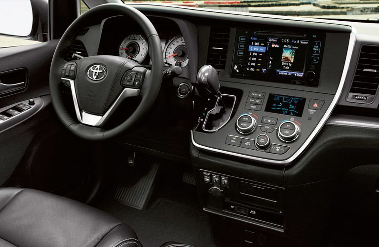 Dashboard of the 2016 Toyota Sienna