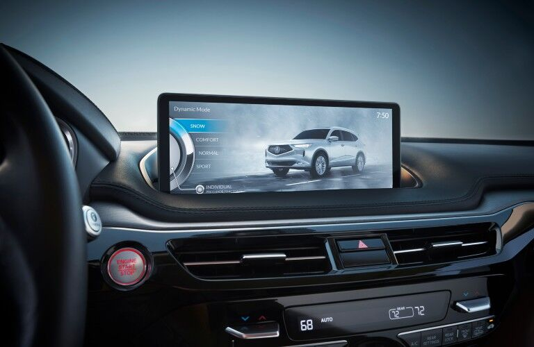 Most functions offered by the 2022 Acura MDX can be controlled via its touchscreen interface.