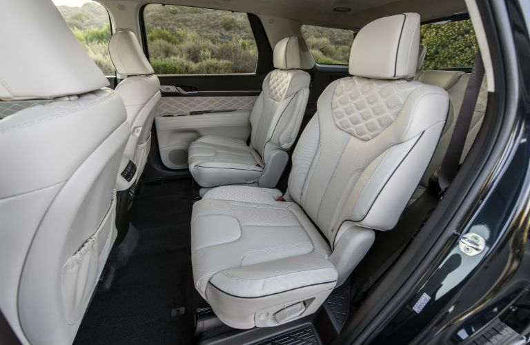 A photo of the second row of seats in the 2021 Hyundai Palisade.
