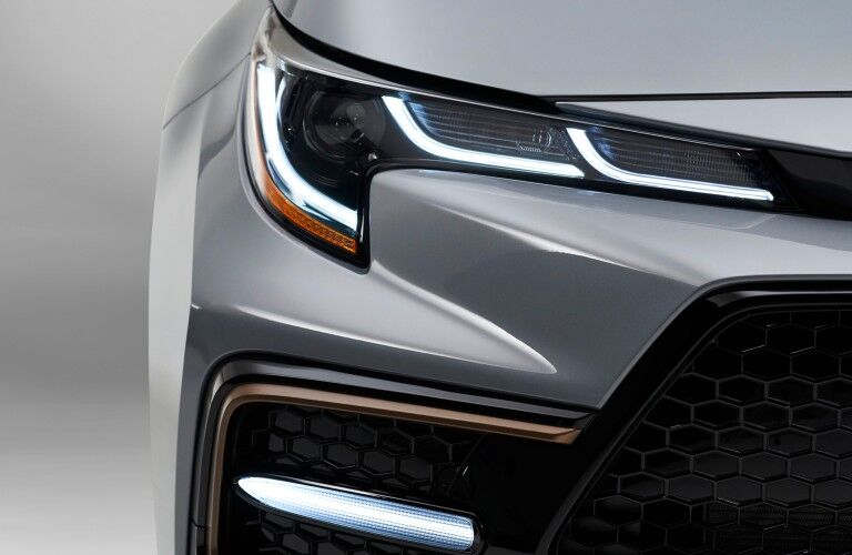headlights on the 2021 Toyota Corolla Apex Edition