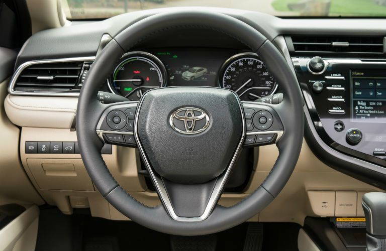 steering wheel in the 2020 Toyota Camry