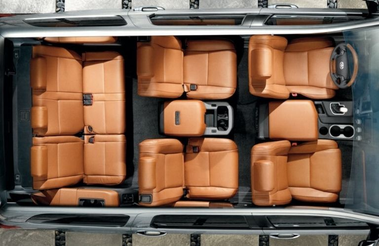 2021 Toyota Sequoia interior seats