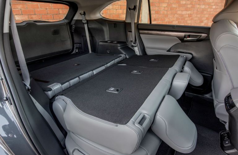 Another photo of the rear cargo area in the 2020 Toyota Highlander.