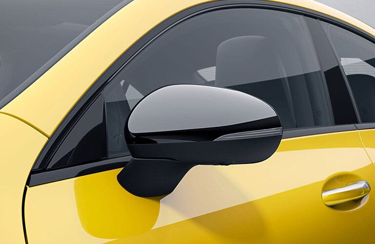 2020 MB CLA exterior close up of driver side mirror