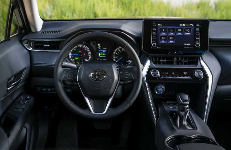 A photo of the driver's cockpit in the 2021 Toyota Venza.