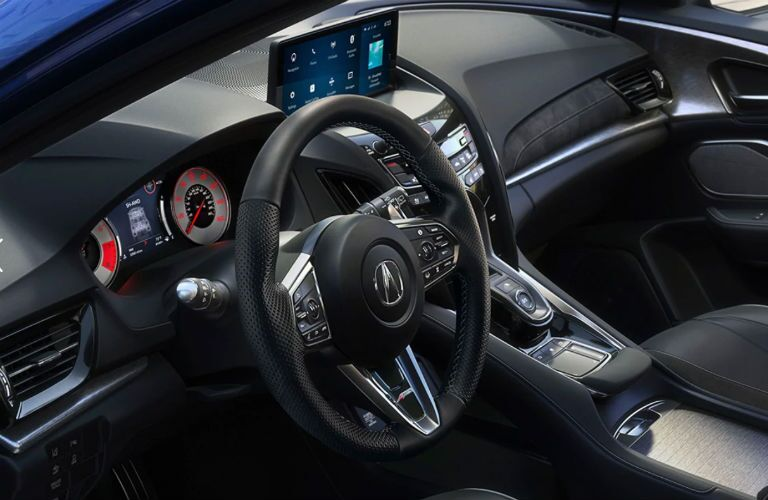 A photo of the driver's cockpit in the 2021 Acura RDX.
