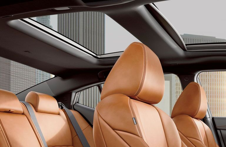 Front and rear leather seats and sunroof inside 2020 Nissan Maxima