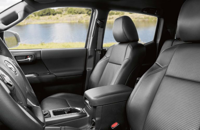 A photo of the front seats in the 2021 Toyota Tacoma.