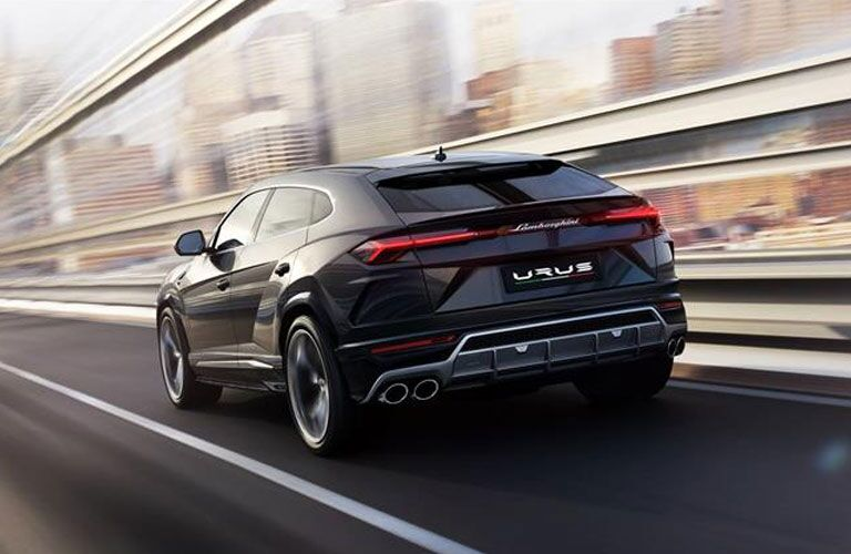 2020 Lamborghini Urus rear in black