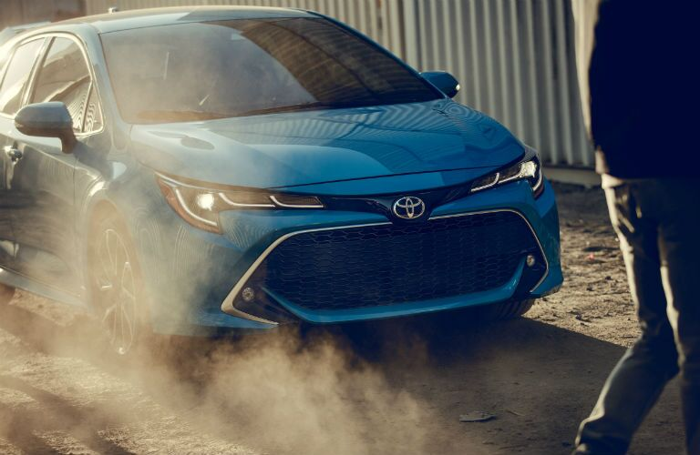 A front-end photo of the 2021 Toyota Corolla Hatchback.