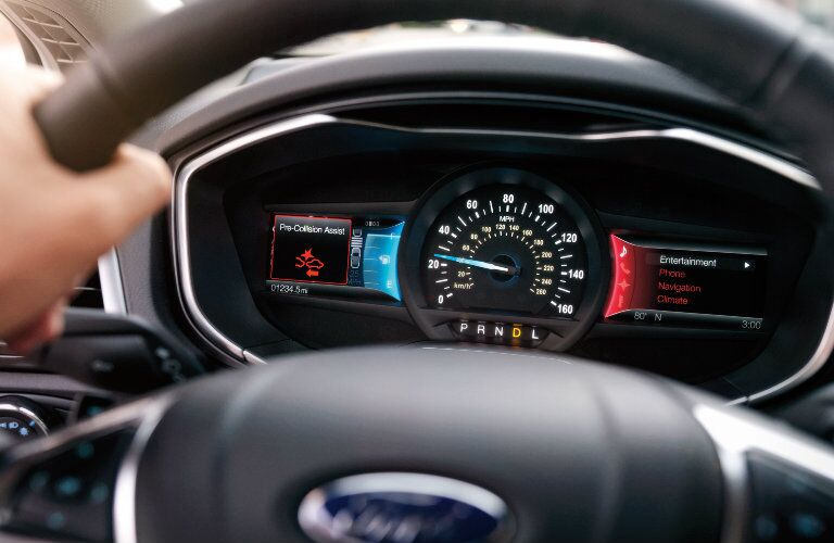 Digital cluster display inside 2019 Ford Fusion